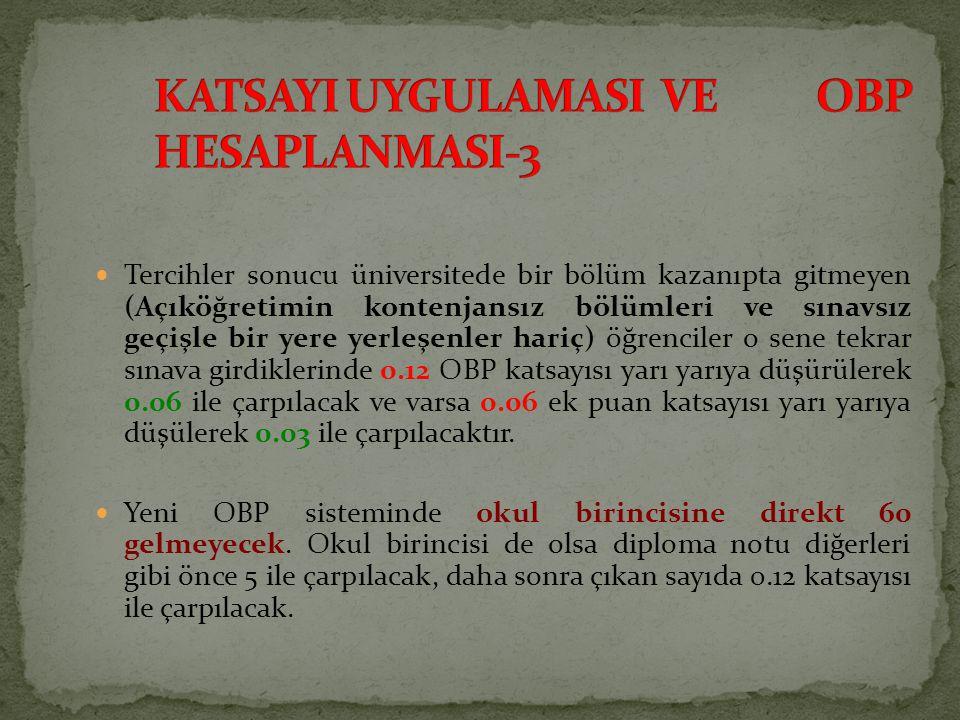 KATSAYI UYGULAMASI VE OBP HESAPLANMASI-3