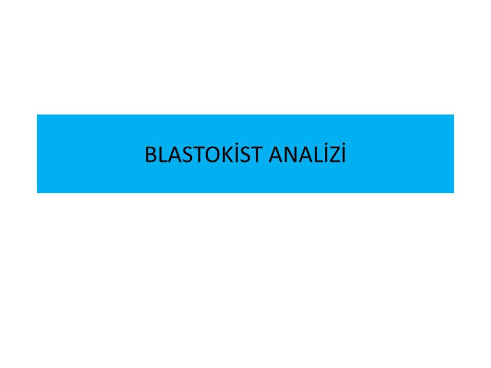 BLASTOKİST ANALİZİ