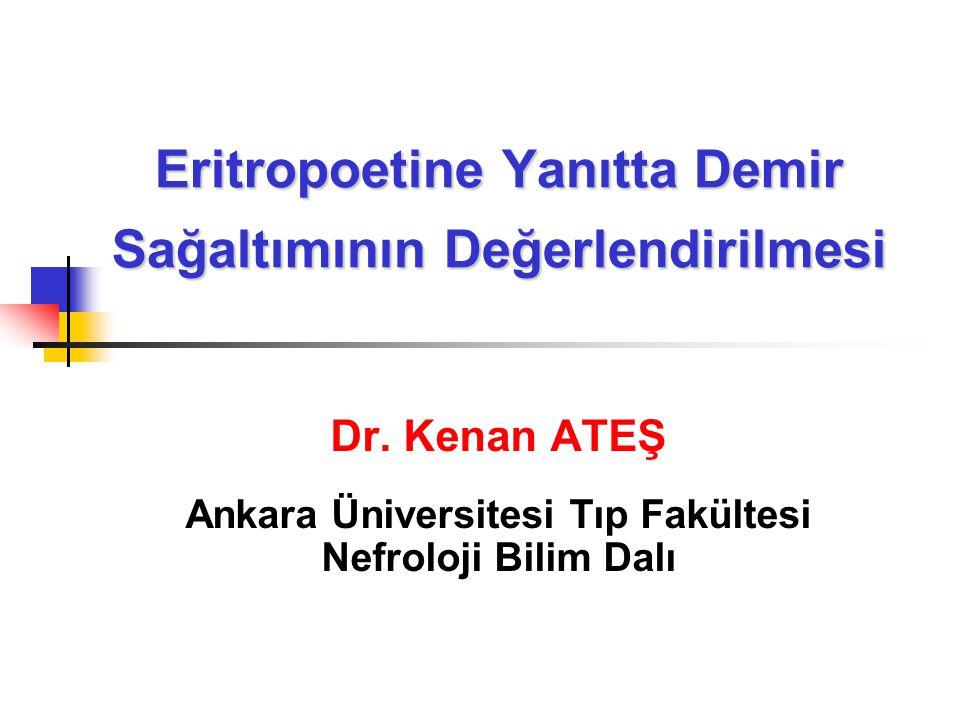 Eritropoetine Yanıtta Demir Sağaltımının Değerlendirilmesi