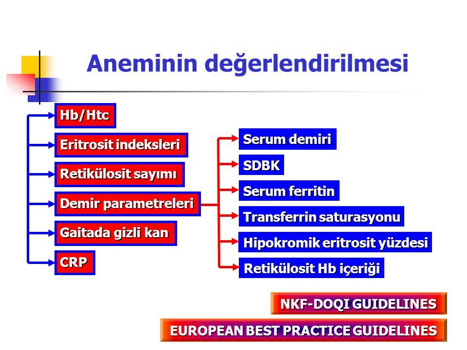 Aneminin değerlendirilmesi EUROPEAN BEST PRACTICE GUIDELINES