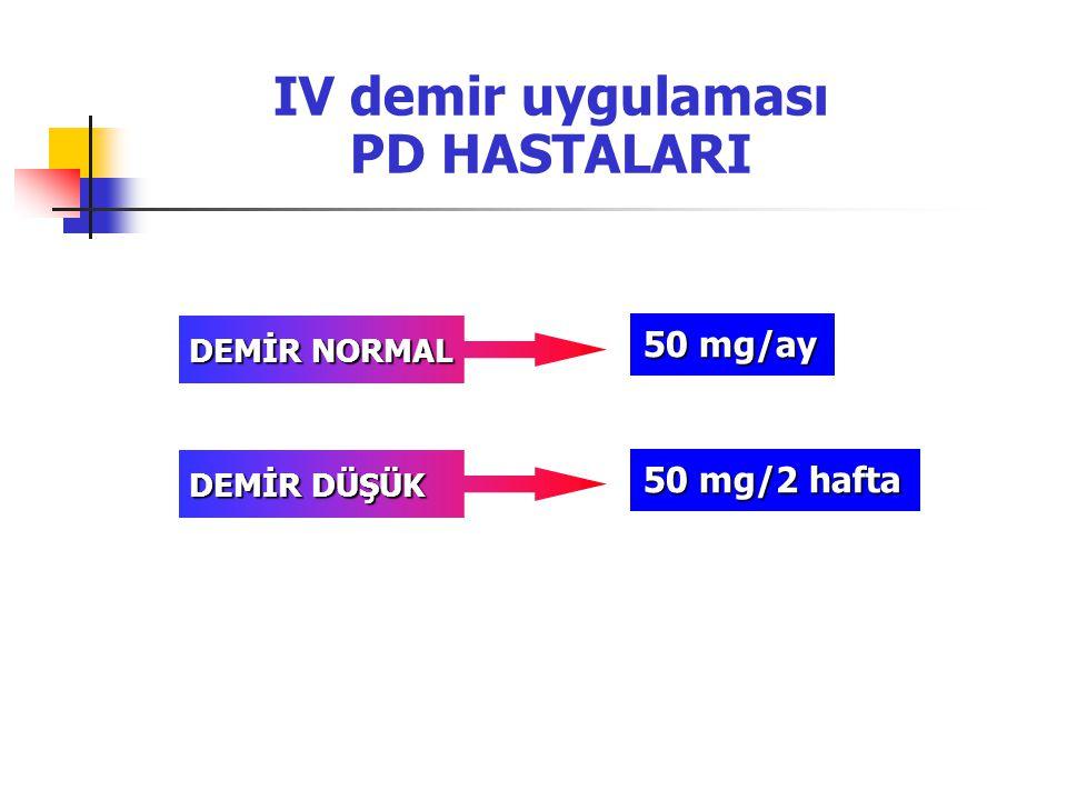 IV demir uygulaması PD HASTALARI