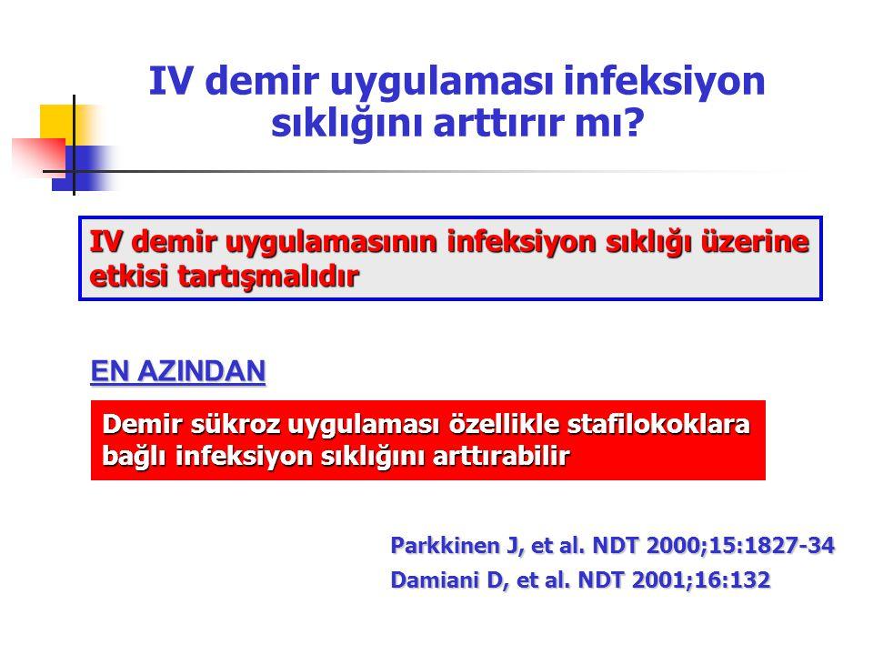 IV demir uygulaması infeksiyon sıklığını arttırır mı