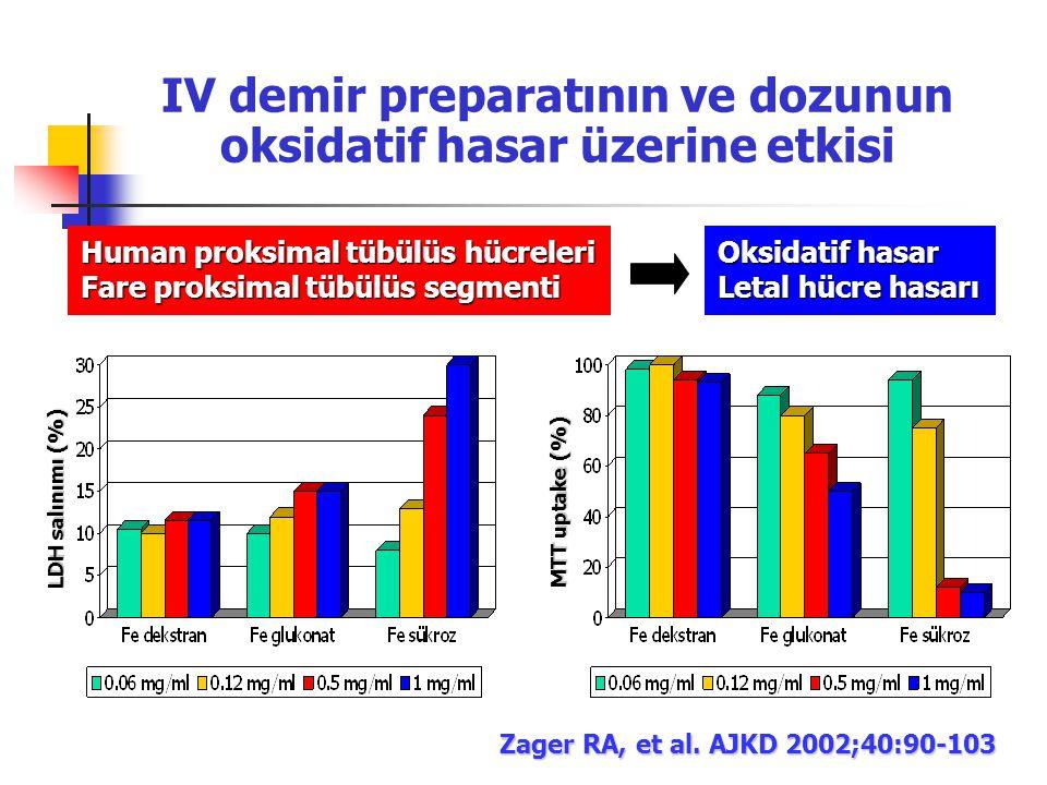IV demir preparatının ve dozunun oksidatif hasar üzerine etkisi