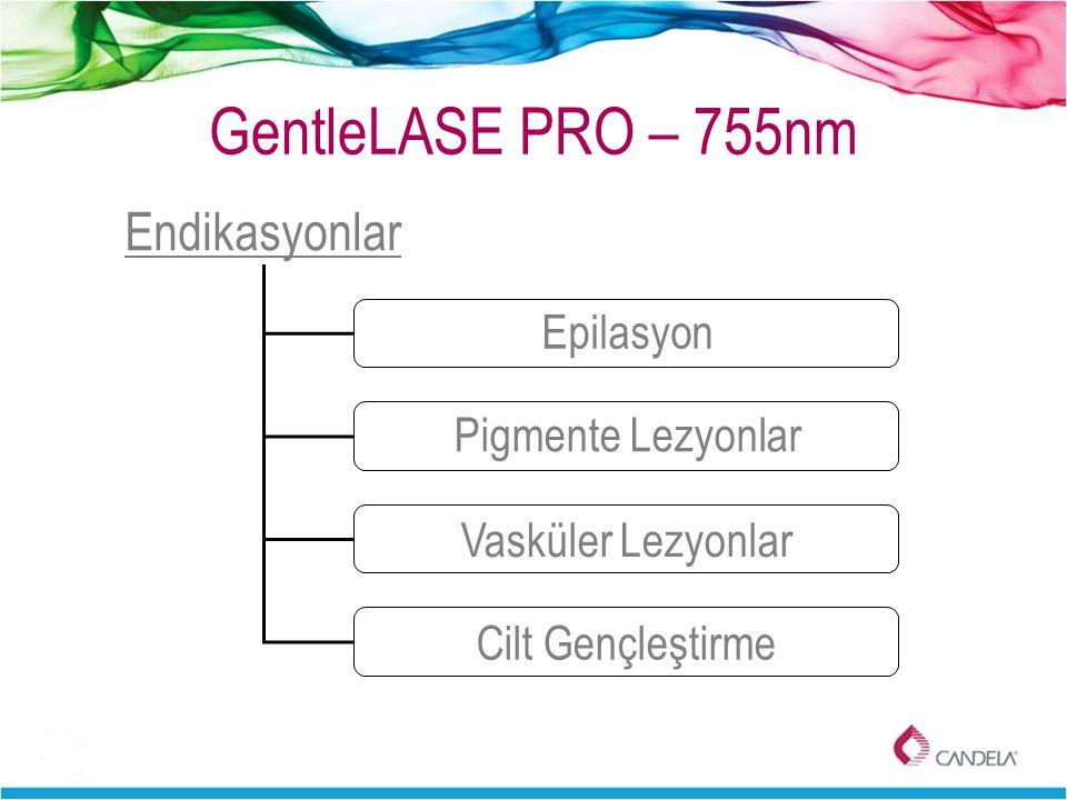 GentleLASE PRO – 755nm Endikasyonlar Epilasyon Pigmente Lezyonlar