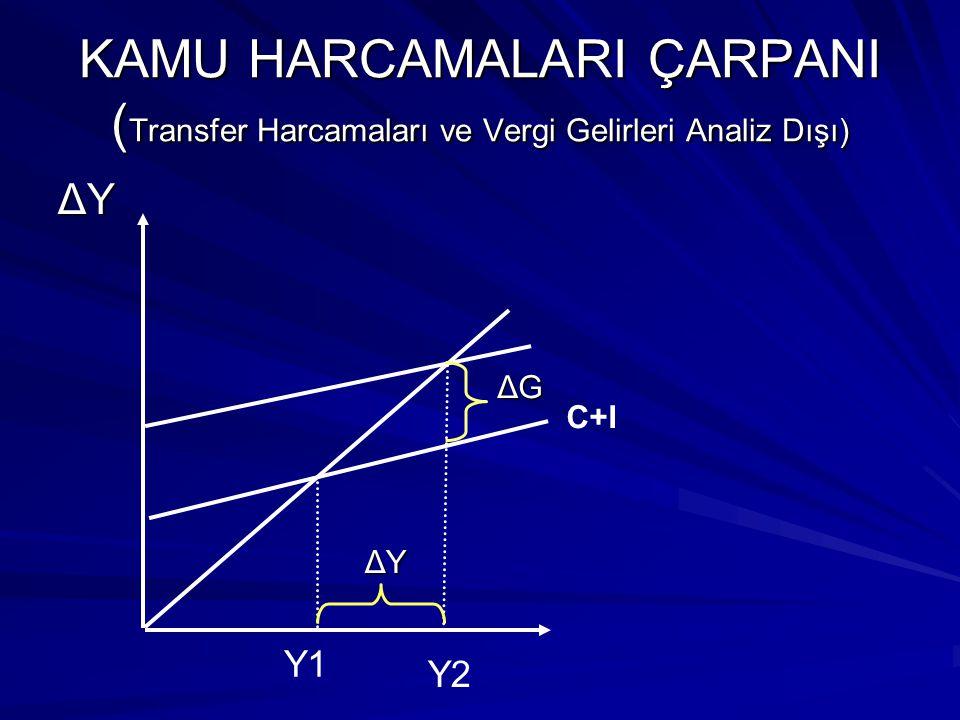 KAMU HARCAMALARI ÇARPANI (Transfer Harcamaları ve Vergi Gelirleri Analiz Dışı)