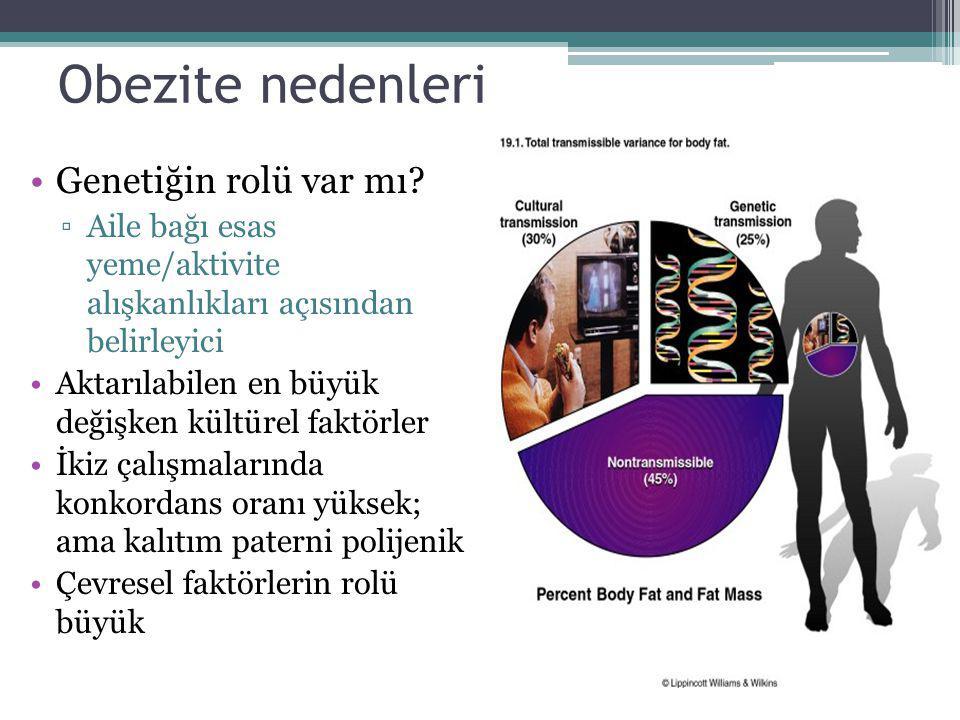 Obezite nedenleri Genetiğin rolü var mı