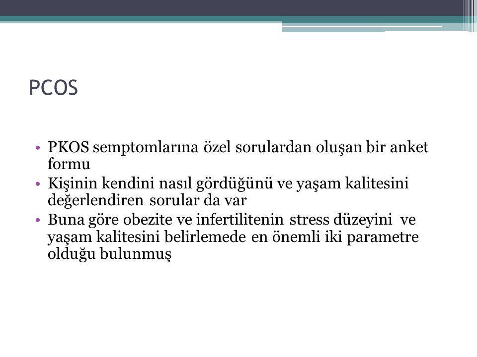 PCOS PKOS semptomlarına özel sorulardan oluşan bir anket formu