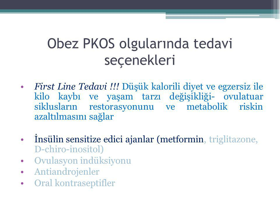Obez PKOS olgularında tedavi seçenekleri