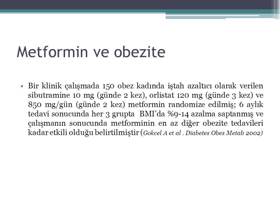Metformin ve obezite