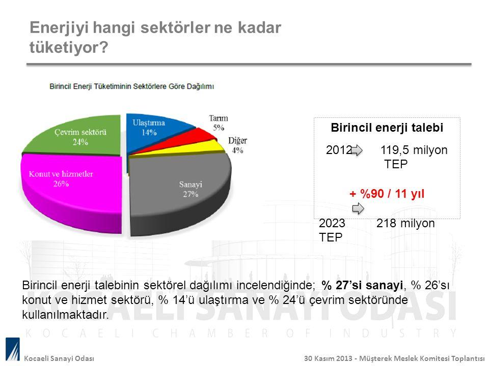 Enerjiyi hangi sektörler ne kadar tüketiyor