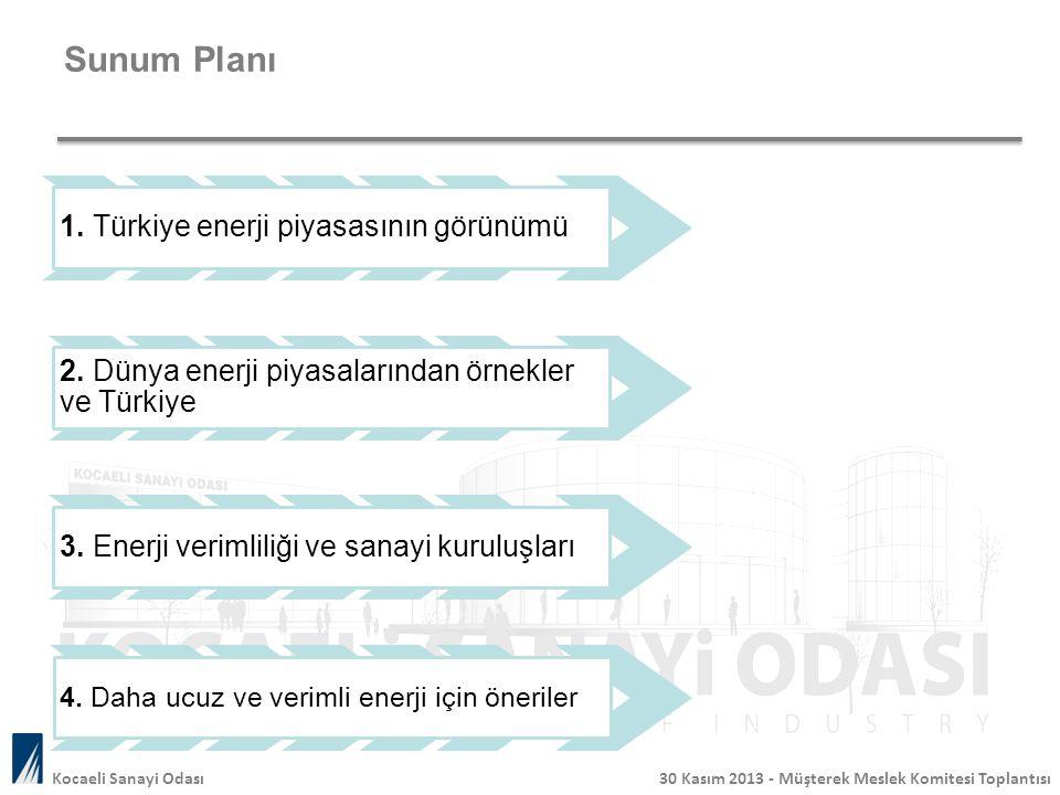 Sunum Planı . 1. Türkiye enerji piyasasının görünümü