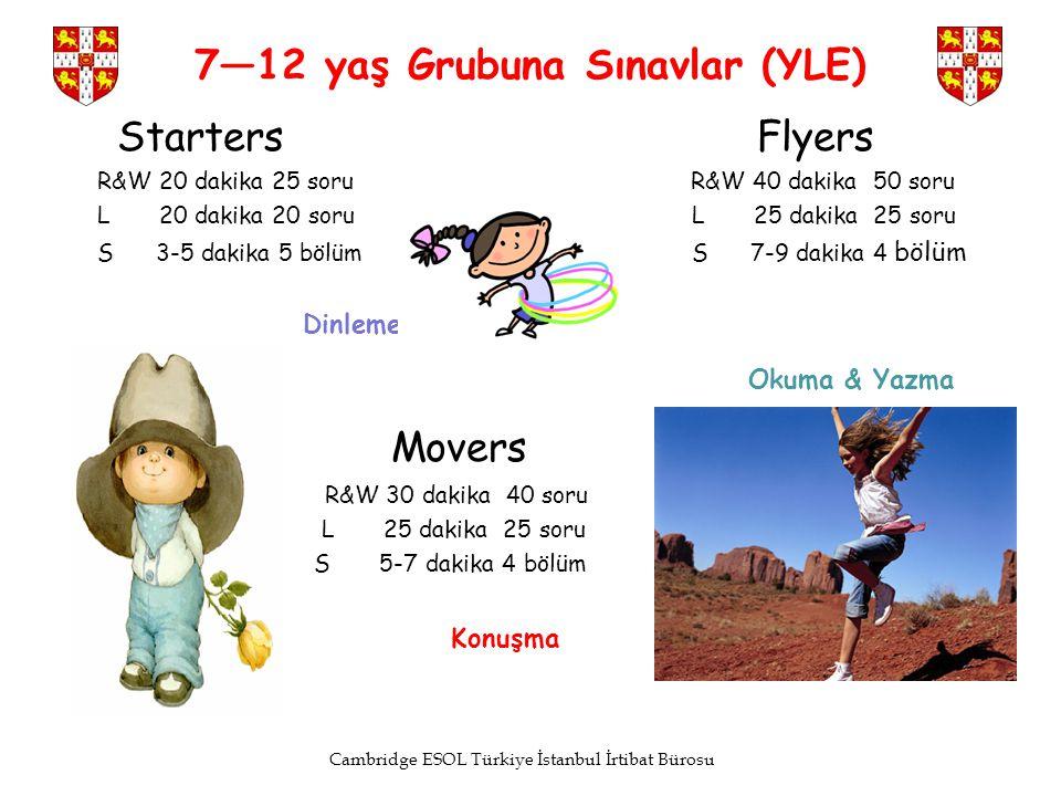 7—12 yaş Grubuna Sınavlar (YLE)