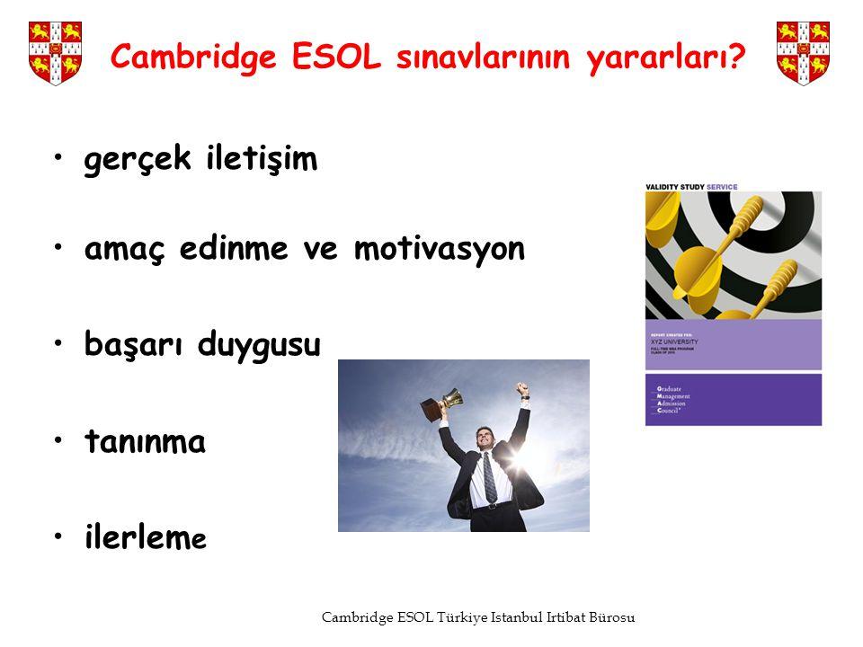 Cambridge ESOL sınavlarının yararları