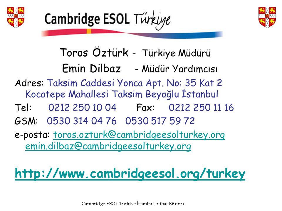 Cambridge ESOL Türkiye İstanbul İrtibat Bürosu
