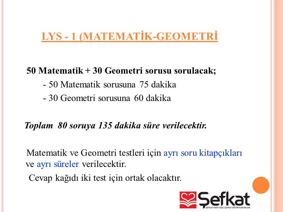 LYS - 1 (MATEMATİK-GEOMETRİ