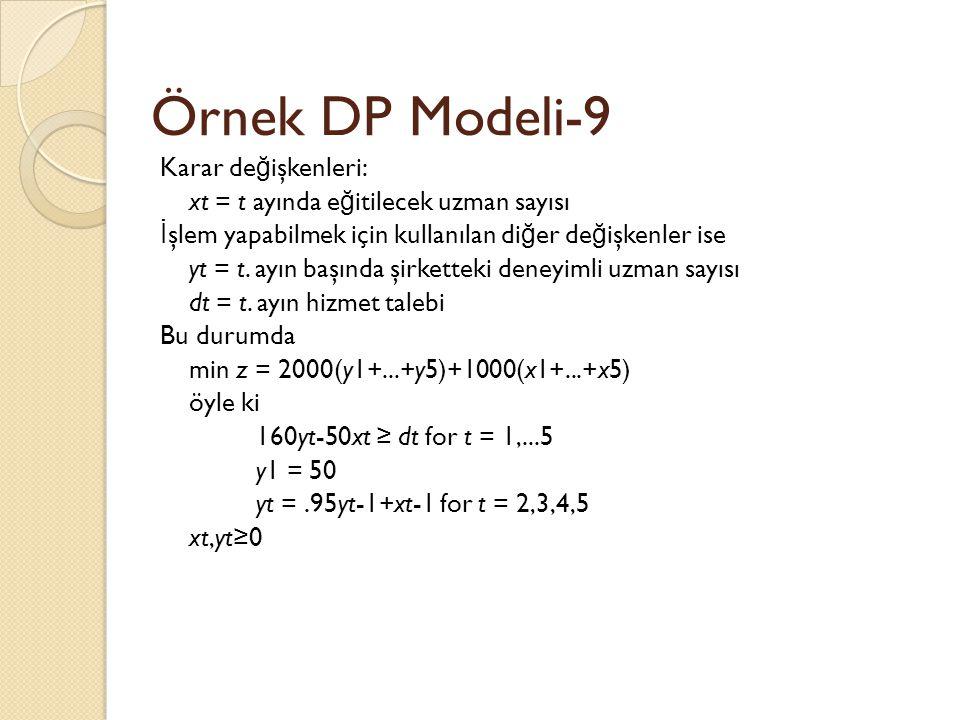 Örnek DP Modeli-9
