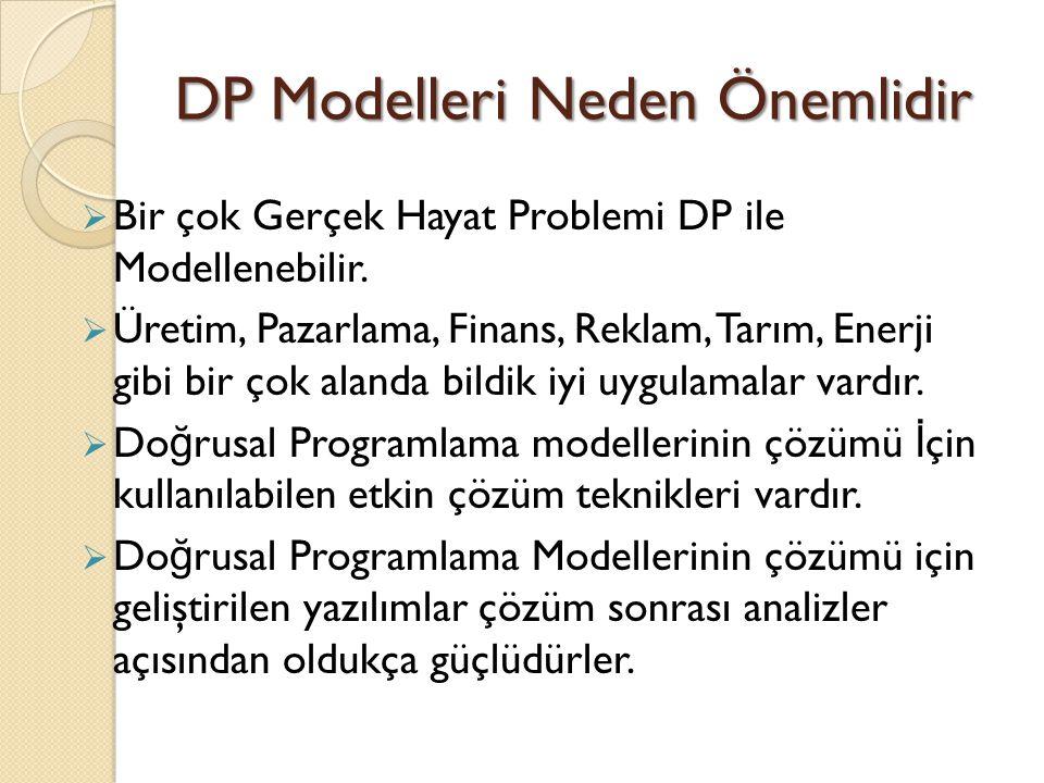 DP Modelleri Neden Önemlidir