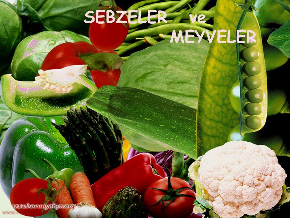 SEBZELER ve MEYVELER