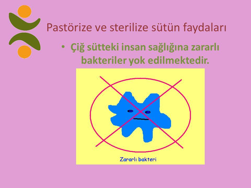Pastörize ve sterilize sütün faydaları