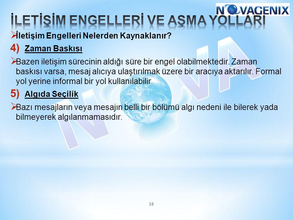 İLETİŞİM ENGELLERİ VE AŞMA YOLLARI