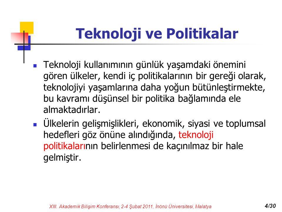 Teknoloji ve Politikalar
