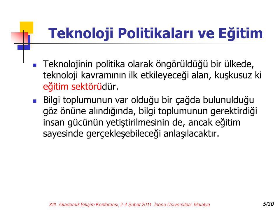 Teknoloji Politikaları ve Eğitim
