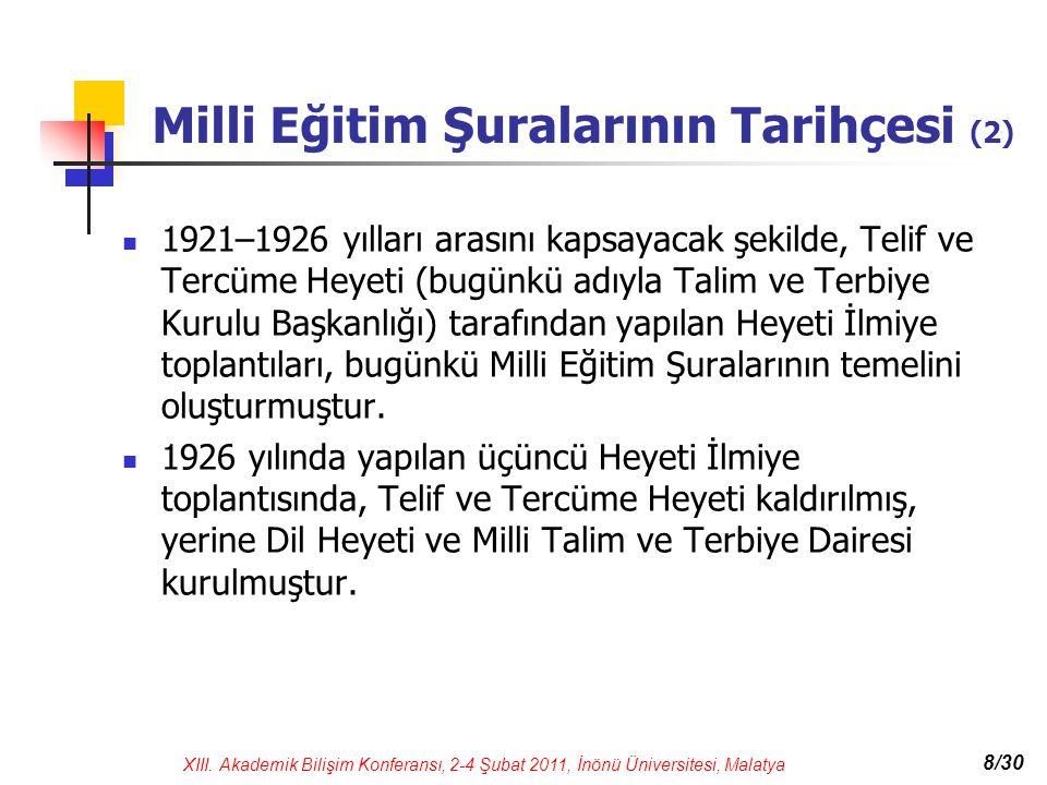 Milli Eğitim Şuralarının Tarihçesi (2)
