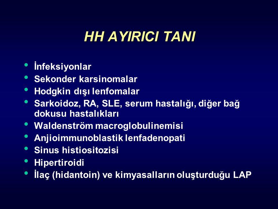 HH AYIRICI TANI İnfeksiyonlar Sekonder karsinomalar
