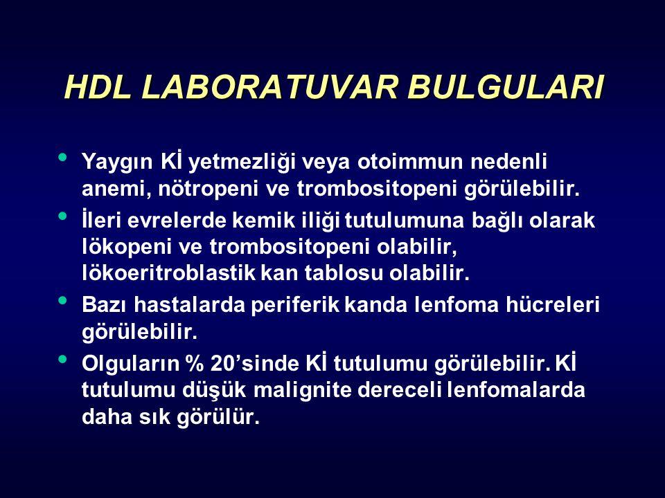 HDL LABORATUVAR BULGULARI