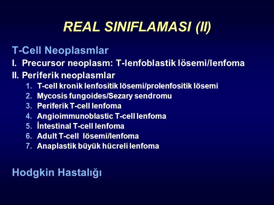 REAL SINIFLAMASI (II) T-Cell Neoplasmlar Hodgkin Hastalığı