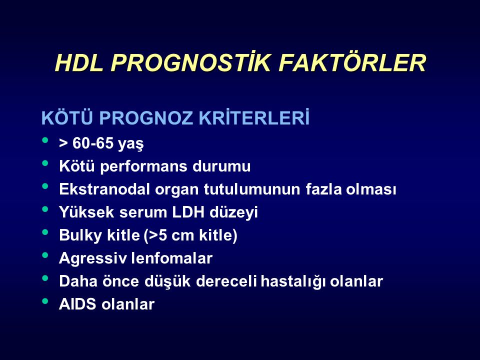 HDL PROGNOSTİK FAKTÖRLER