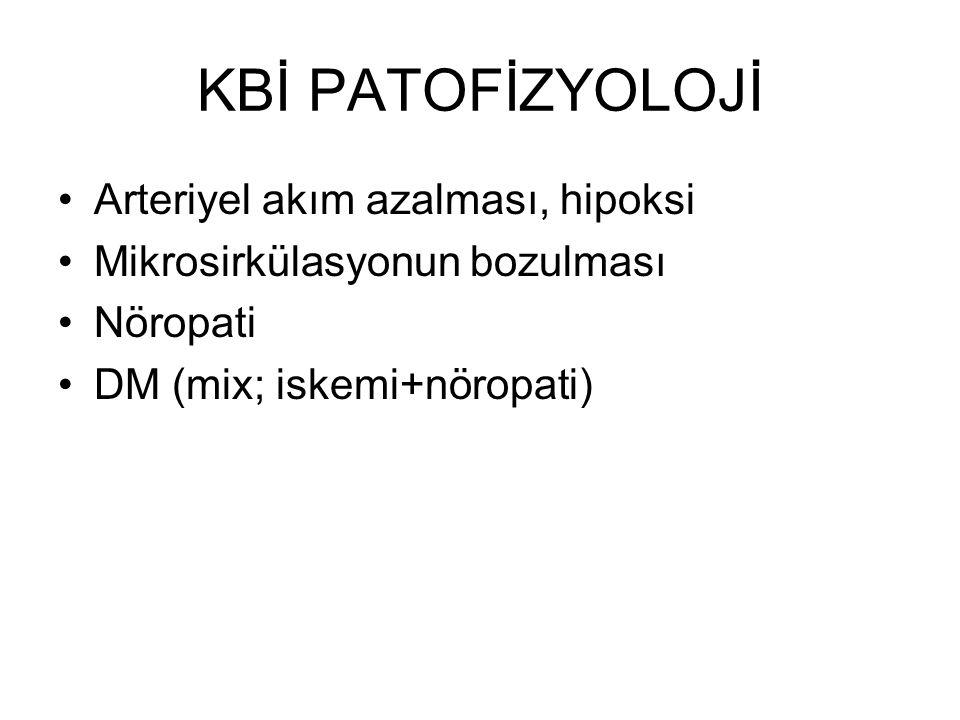 KBİ PATOFİZYOLOJİ Arteriyel akım azalması, hipoksi