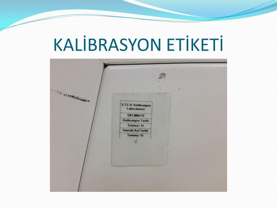 KALİBRASYON ETİKETİ