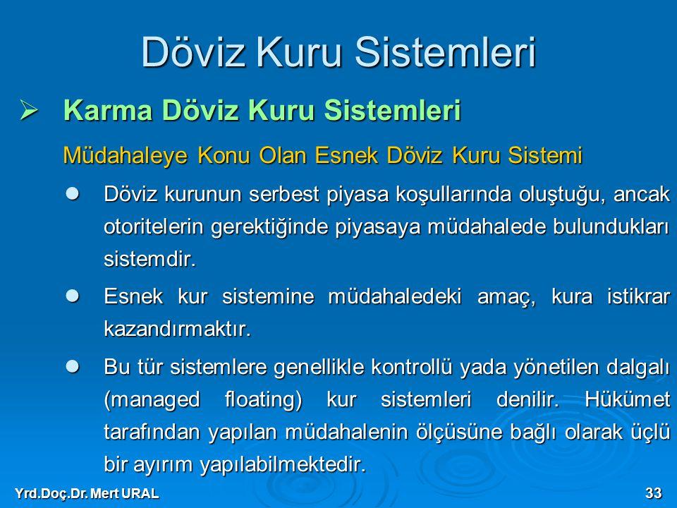 Döviz Kuru Sistemleri Karma Döviz Kuru Sistemleri