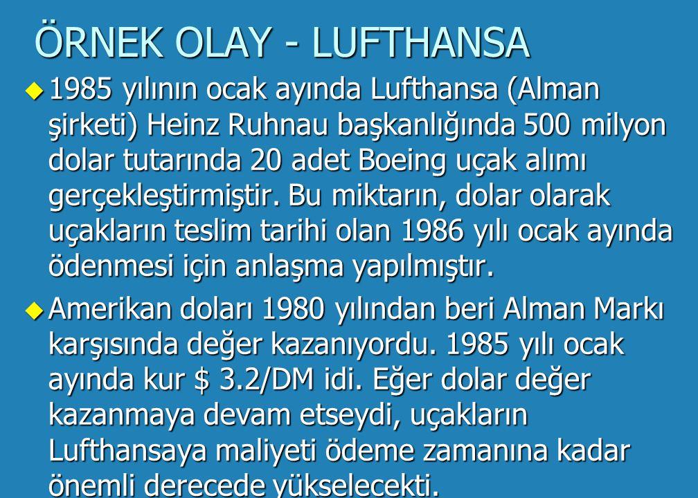 ÖRNEK OLAY - LUFTHANSA