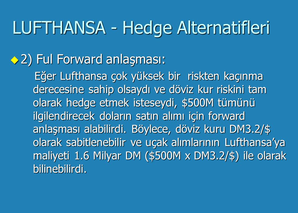 Lufthansa: To Hedge or Not To Hedge