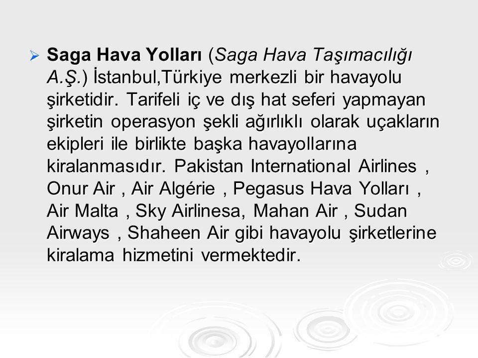 Saga Hava Yolları (Saga Hava Taşımacılığı A. Ş