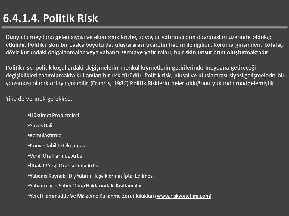 6.4.1.4. Politik Risk