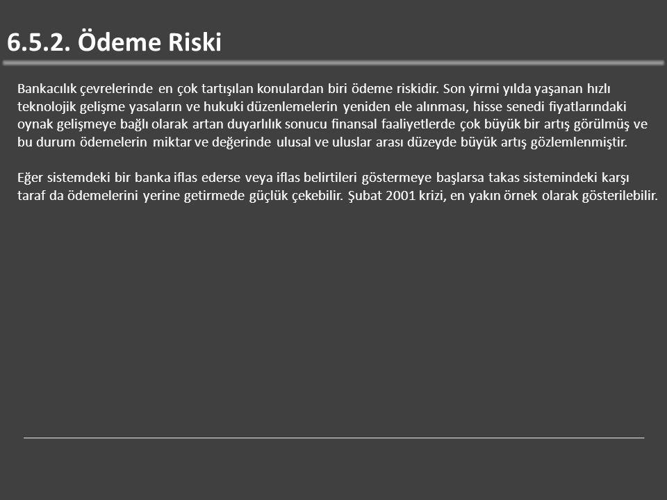 6.5.2. Ödeme Riski