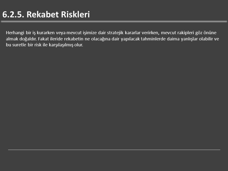 6.2.5. Rekabet Riskleri