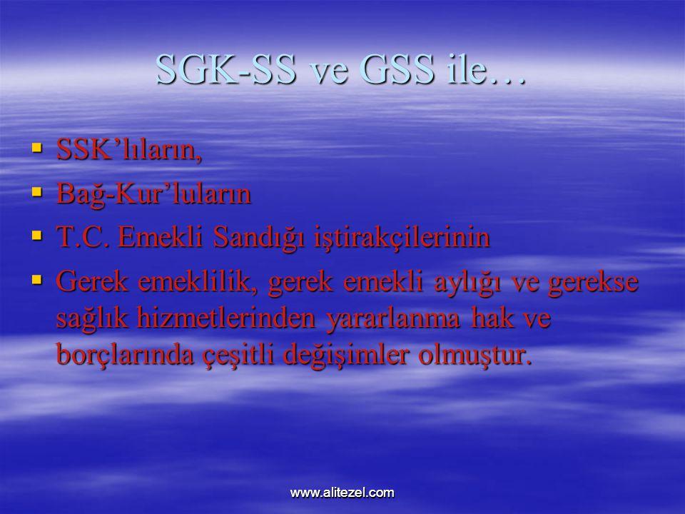 SGK-SS ve GSS ile… SSK'lıların, Bağ-Kur'luların