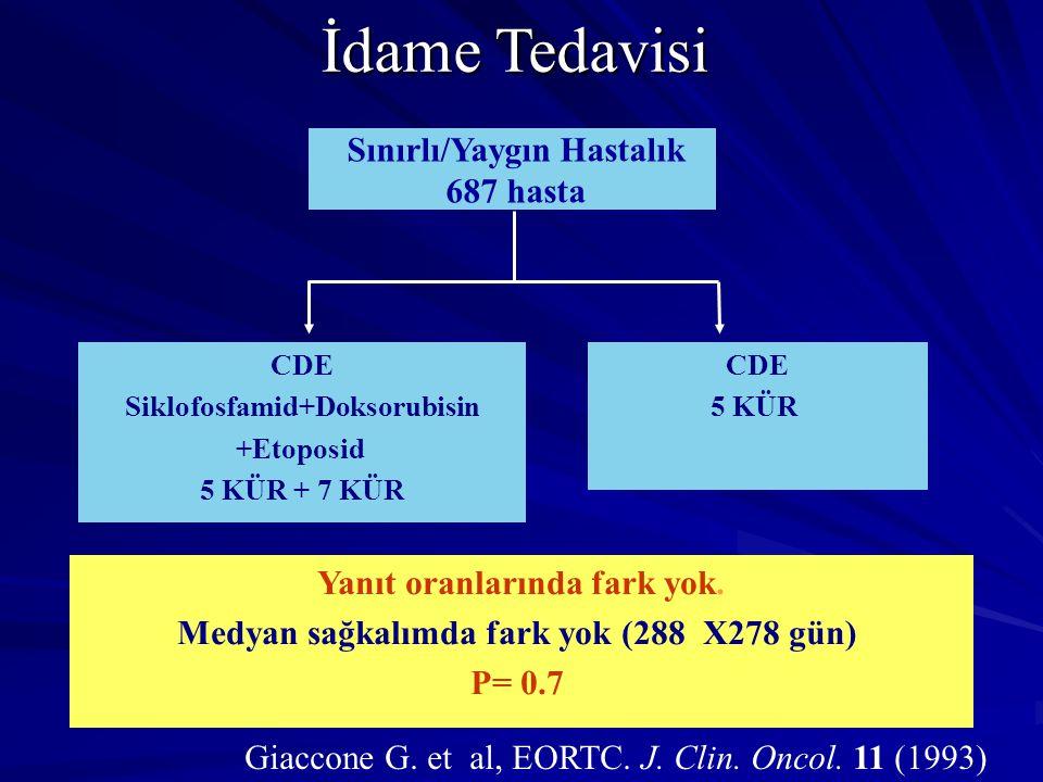 İdame Tedavisi Sınırlı/Yaygın Hastalık 687 hasta