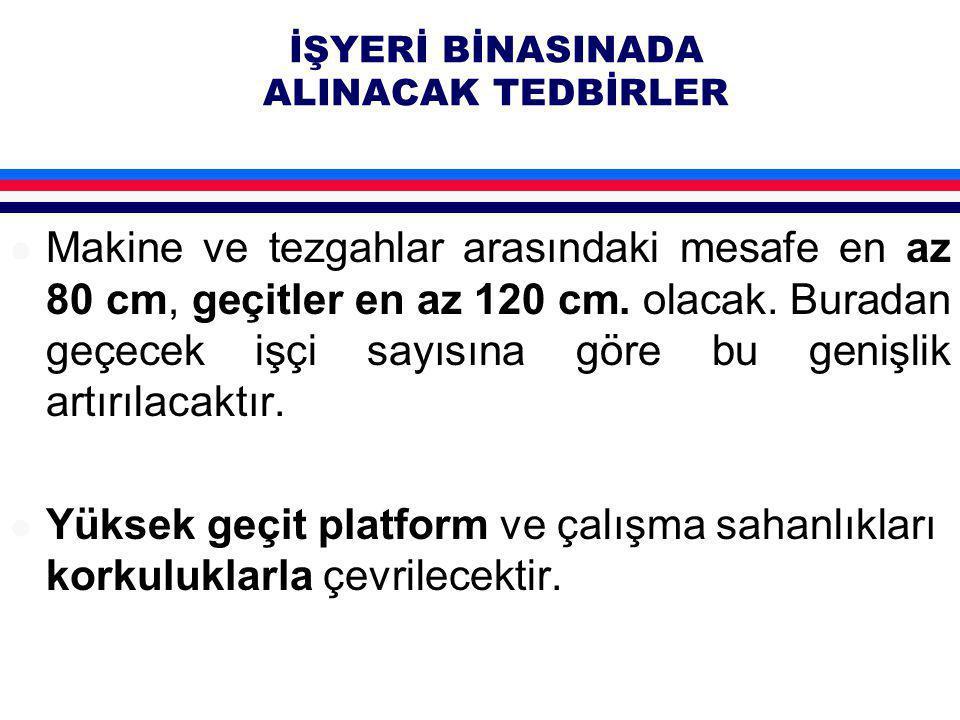 İŞYERİ BİNASINADA ALINACAK TEDBİRLER