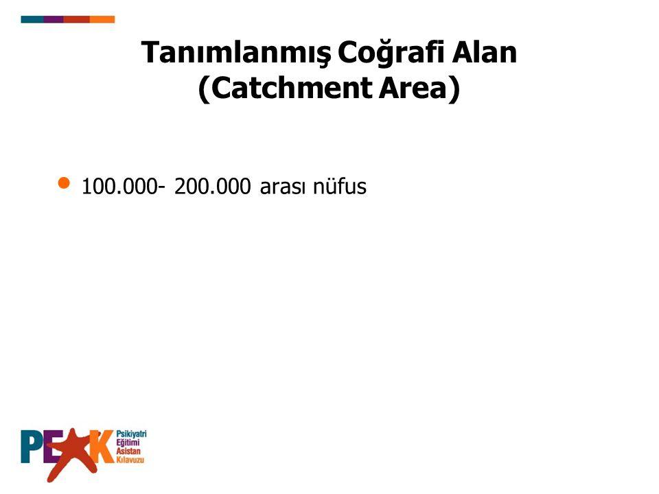 Tanımlanmış Coğrafi Alan (Catchment Area)
