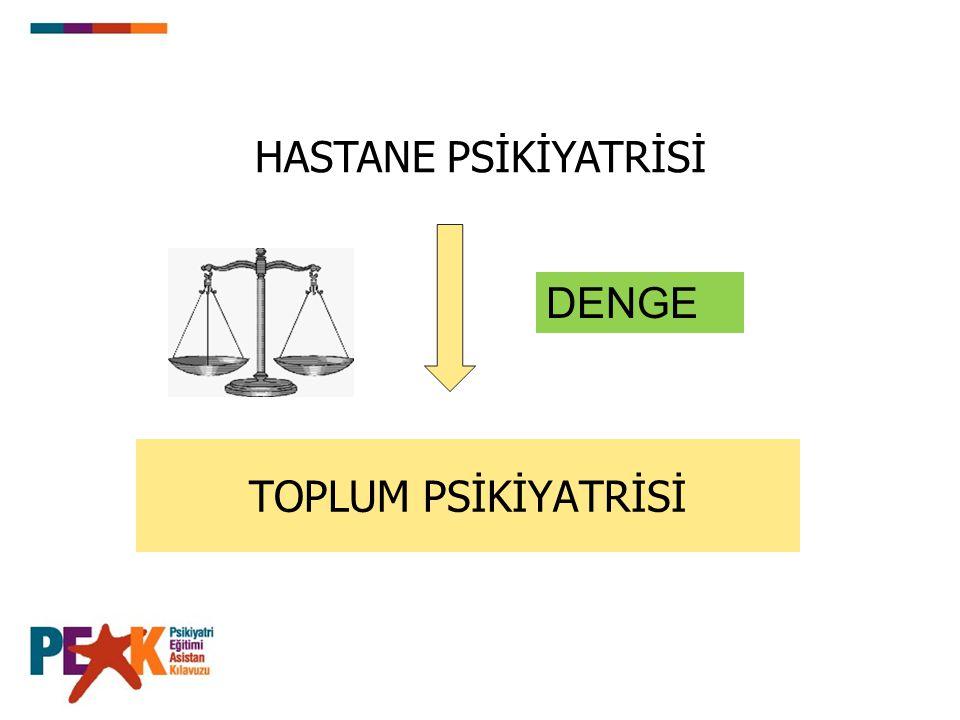 HASTANE PSİKİYATRİSİ DENGE TOPLUM PSİKİYATRİSİ