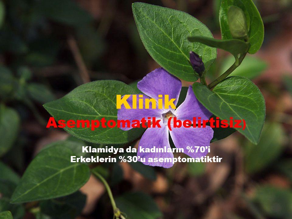 Klinik Asemptomatik (belirtisiz)