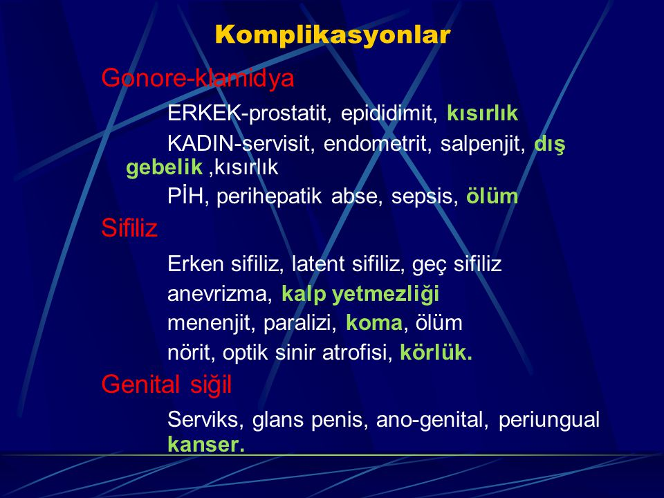 ERKEK-prostatit, epididimit, kısırlık