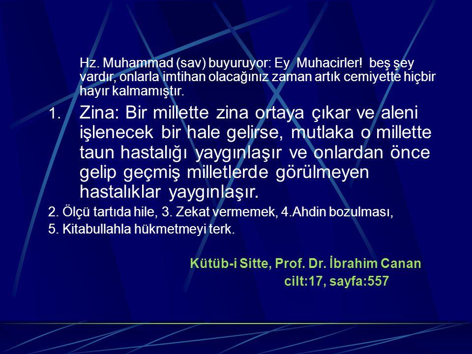 Hz. Muhammad (sav) buyuruyor: Ey Muhacirler