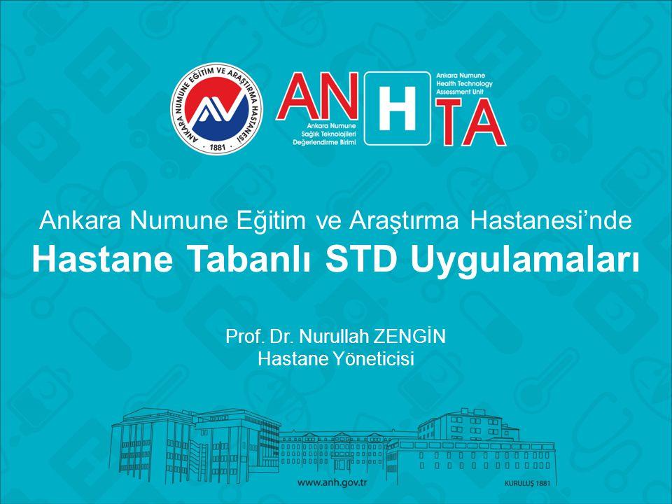 Ankara Numune Eğitim ve Araştırma Hastanesi'nde Hastane Tabanlı STD Uygulamaları Prof.