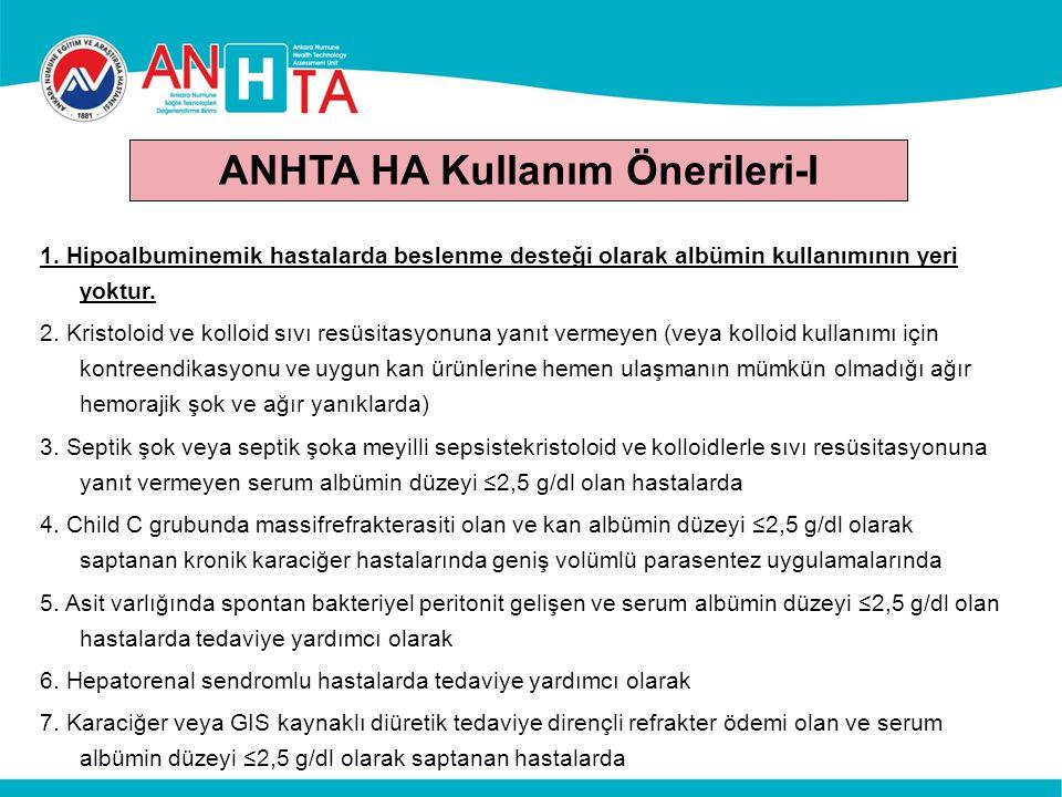ANHTA HA Kullanım Önerileri-I